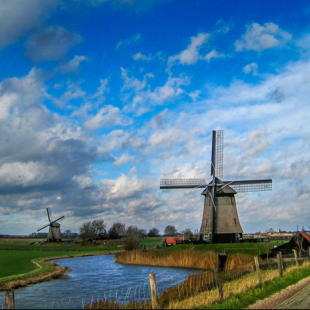 """Windmill in Holland"" stock image"