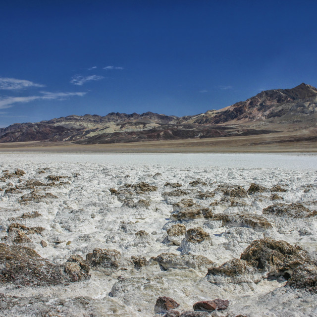 """Salt in Death Valley"" stock image"
