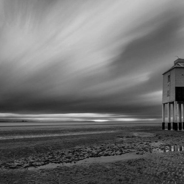 """Long Exposure of Burnham on Sea Lighthouse, Somerset."" stock image"