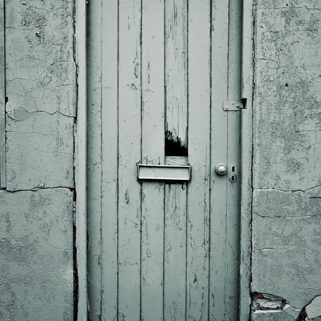 """Old Abandoned Building Door"" stock image"
