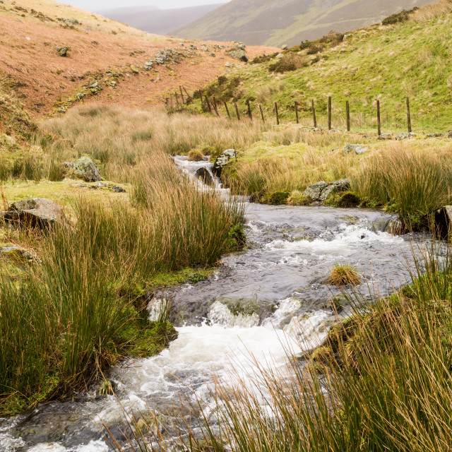 """Misty Mountain Stream"" stock image"