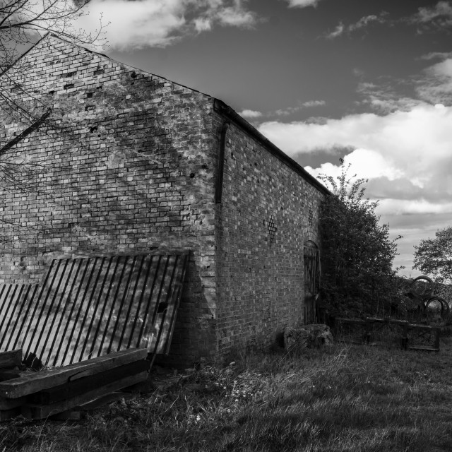 """Old Abandoned Farm Building"" stock image"