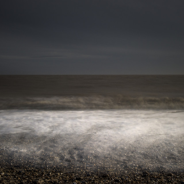 """Long Exposure Stormy Seascape"" stock image"