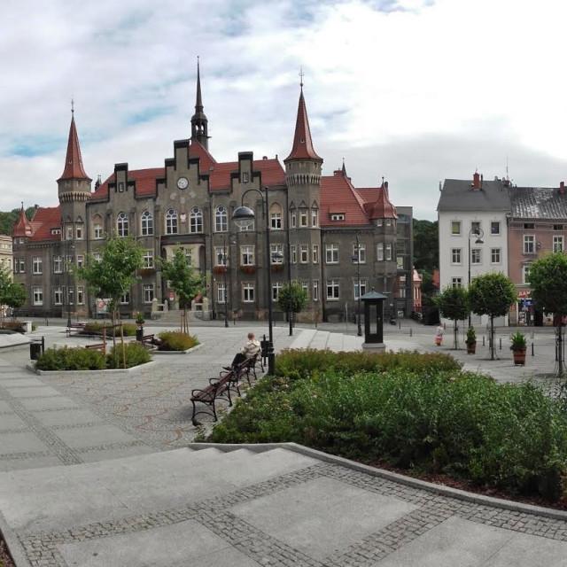 """""""Wałbrzych market square"""" stock image"""