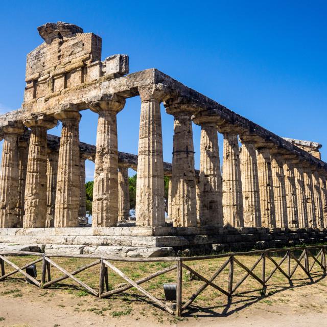"""Paestum Ruins"" stock image"