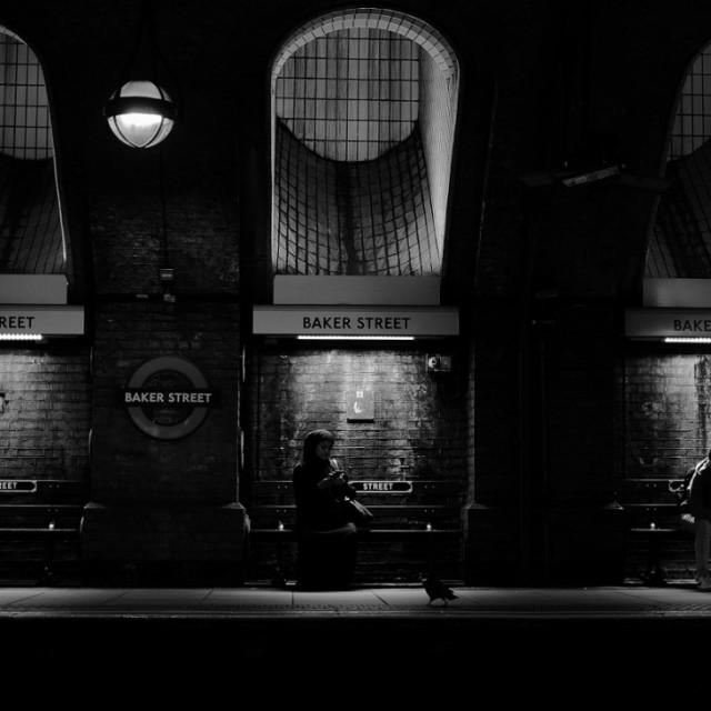 """""""Bakerloo Tube Station"""" stock image"""