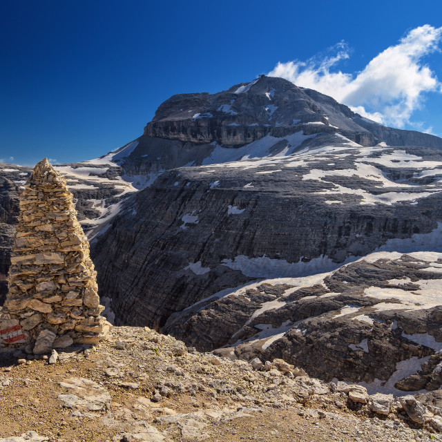 """Dolomiti - Piz Boe mount"" stock image"