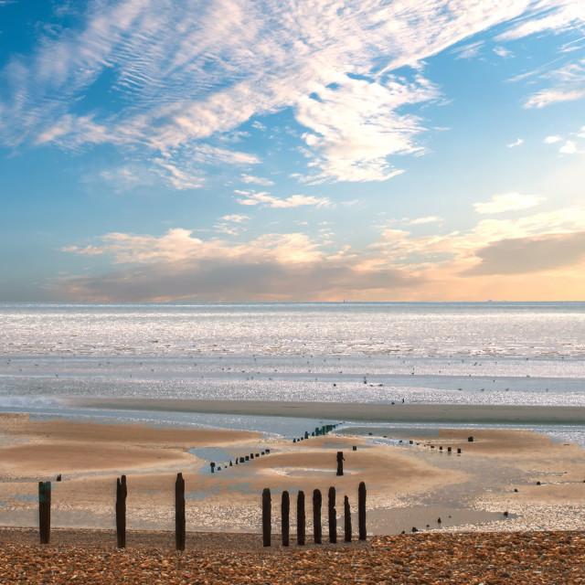 """Hastings beach"" stock image"