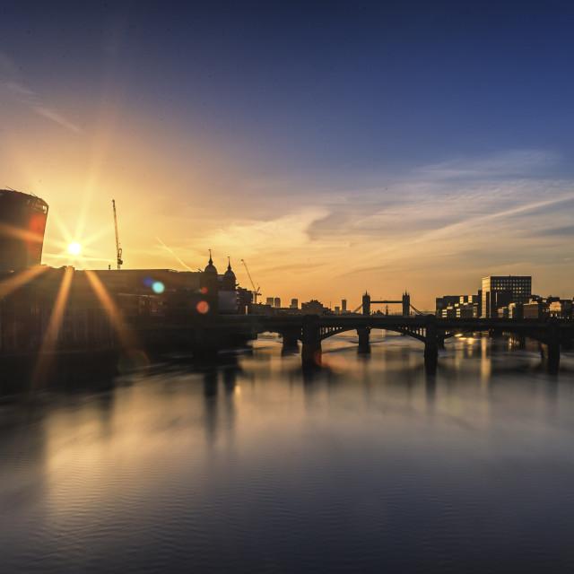 """""""Sunrise In London"""" stock image"""