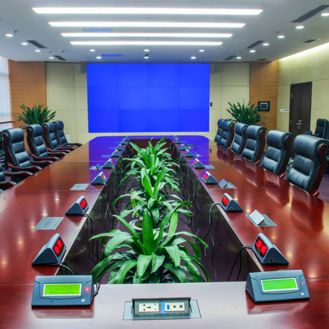 """""""Modern multimedia conference room"""" stock image"""
