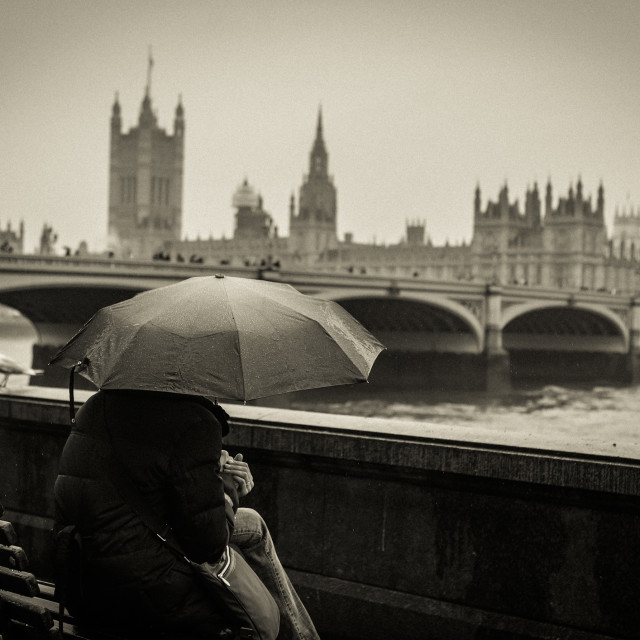 """""""Typical London for this tourist..."""" stock image"""