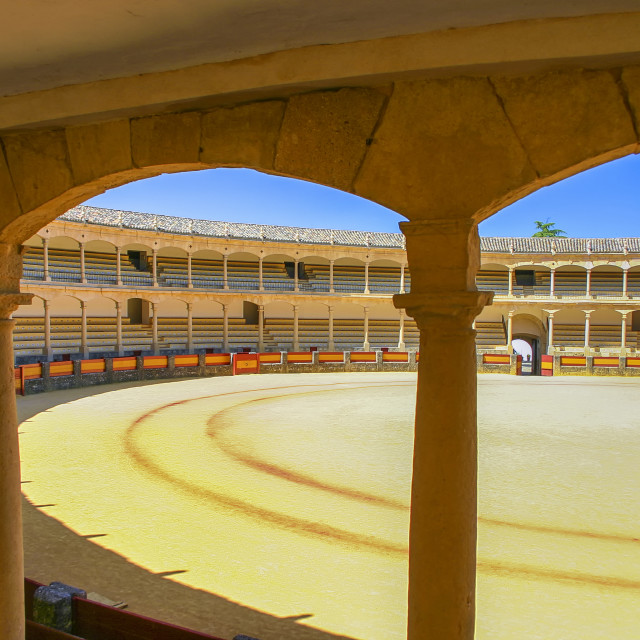 """Bullfighting arena in Spain"" stock image"