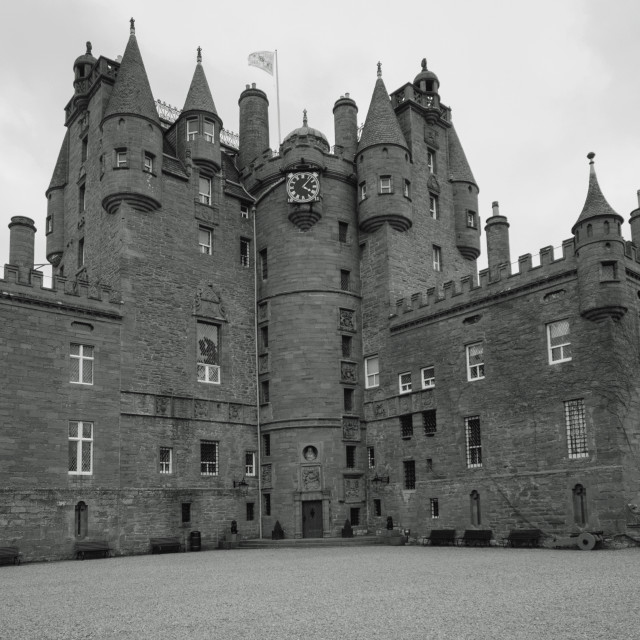 """Glamis Castle"" stock image"