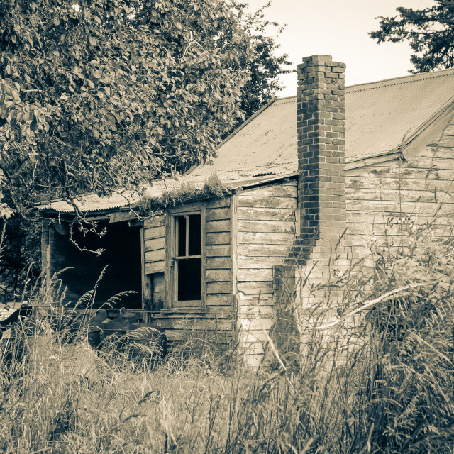 """derelict farm cottage"" stock image"