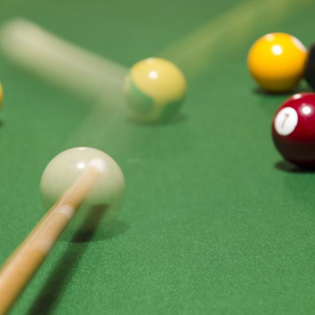 """Pool Shot"" stock image"