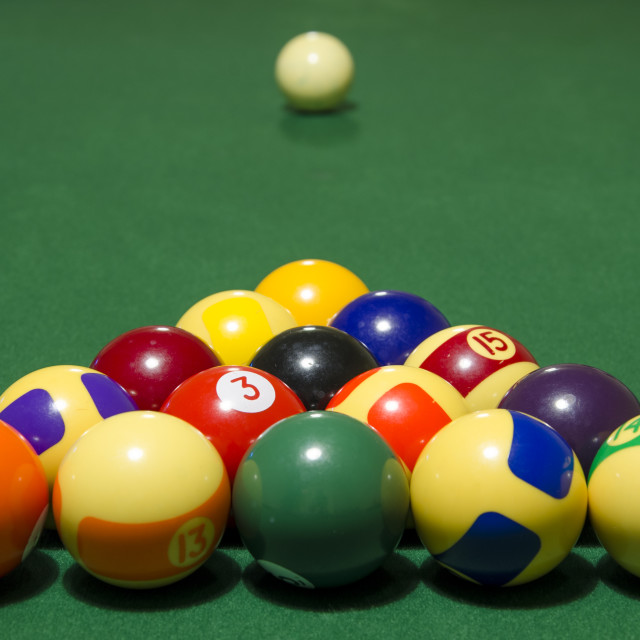 """Pool Triangle"" stock image"