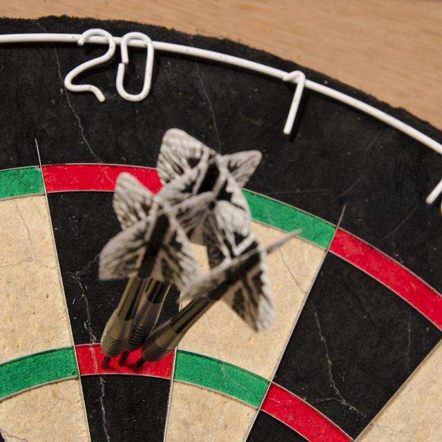 """""""180 in Darts"""" stock image"""