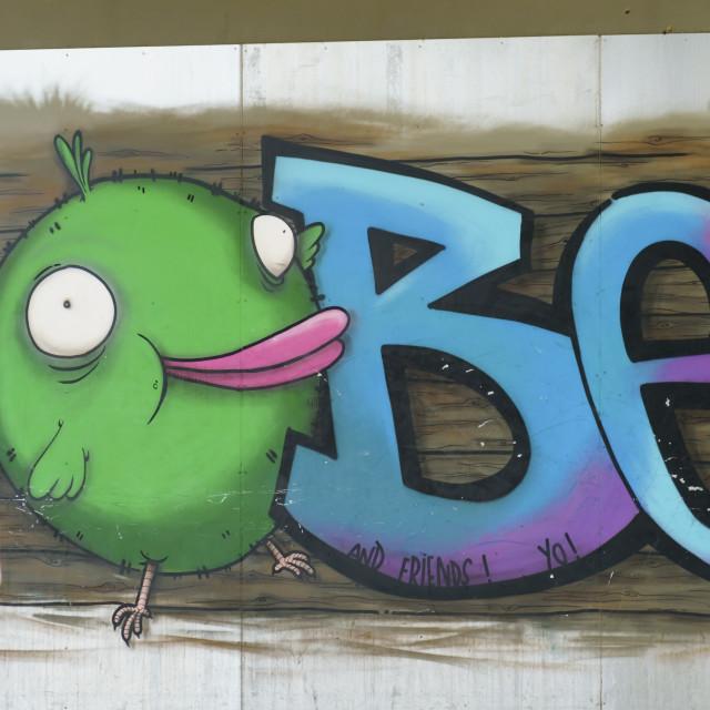 """Grafitti on the wall"" stock image"