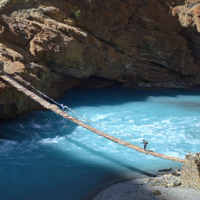 """Crossing Blue Waters"" stock image"