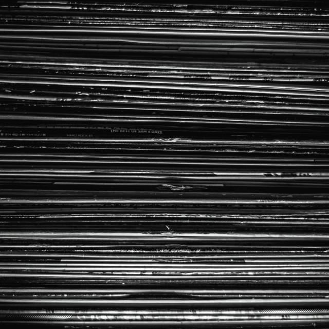 """""""Box of vinyl"""" stock image"""
