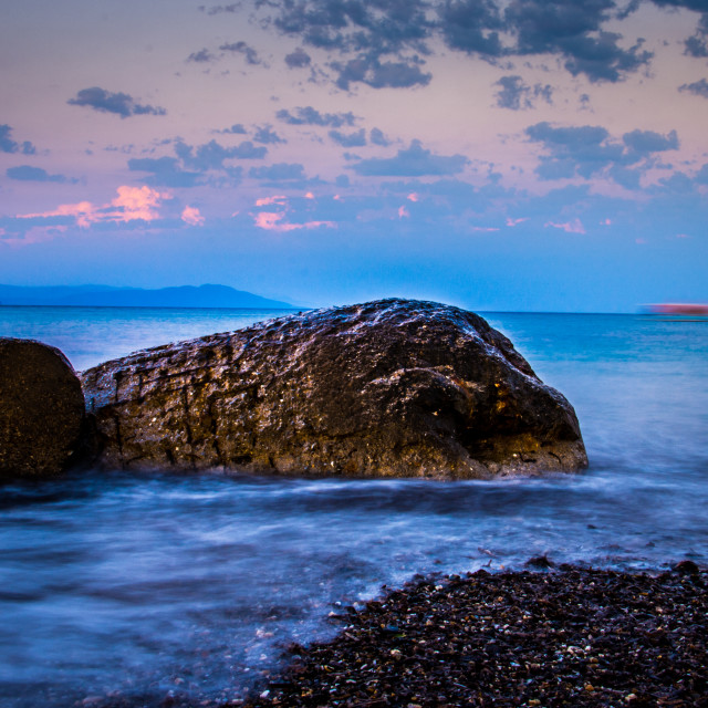 """rocks in the sea"" stock image"