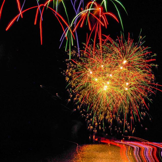 """Bathtub Fireworks"" stock image"