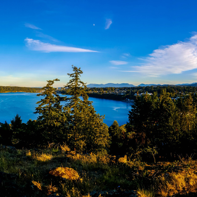 """""""Nanaimo From Above"""" stock image"""