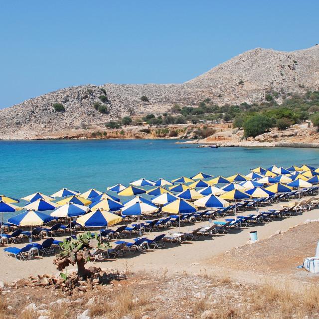 """""""Pondamos beach, Halki"""" stock image"""