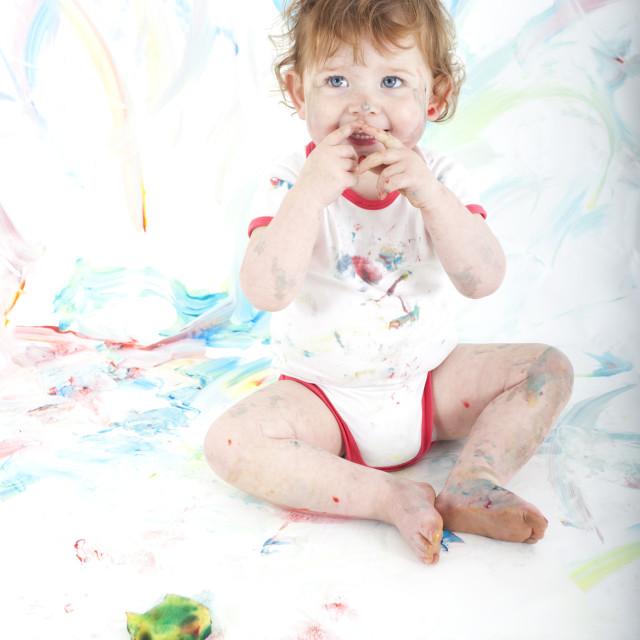 """""""happy painter"""" stock image"""