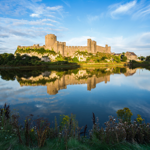 """Pembroke Castle"" stock image"