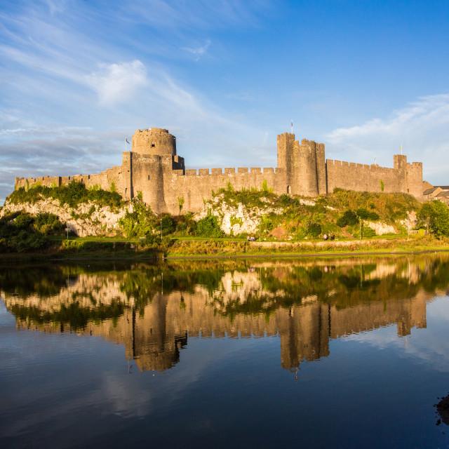 """Pembroke Castle, Wales"" stock image"