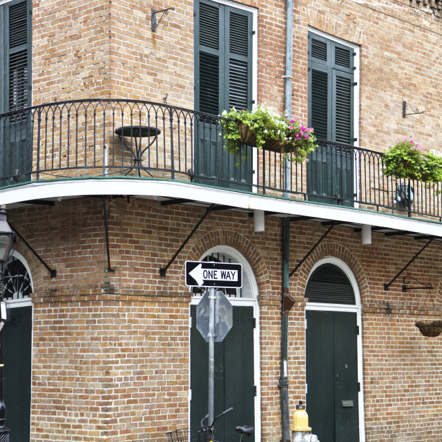 """New Orleans, French Quarters"" stock image"