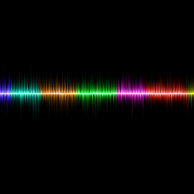 """Photoshop Sound Wave"" stock image"