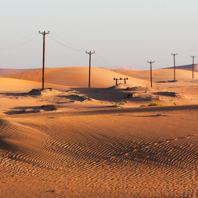 """Electrification of the Desert"" stock image"
