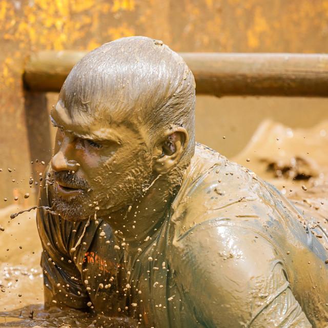 """St Davids Mud Run"" stock image"