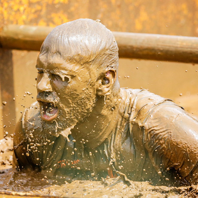 """St Davids Mud Run."" stock image"