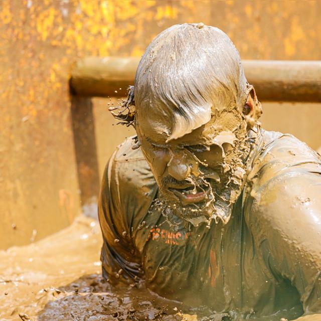 """St Davids Mud Run."" stock image"