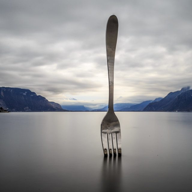 """Fork In Switzerland."" stock image"