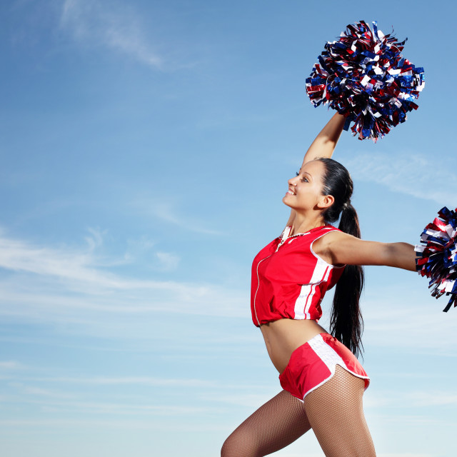 """""""Young female cheerleader"""" stock image"""