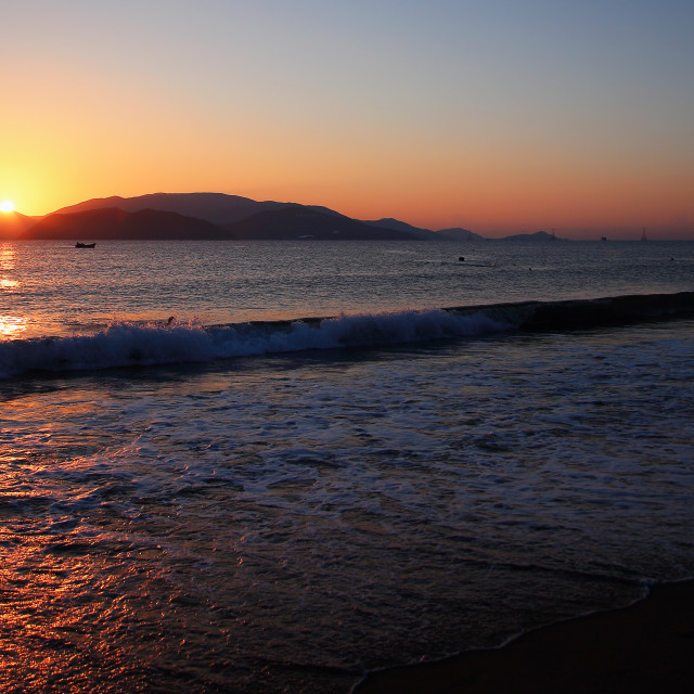 """""""The dawn on the beach"""" stock image"""