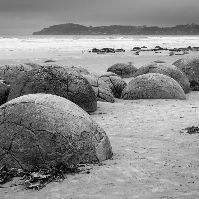 """""""Koekohe beach boulders"""" stock image"""