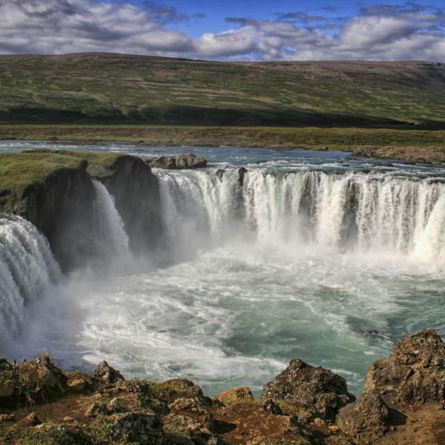 """Godafoss waterfall, Iceland"" stock image"