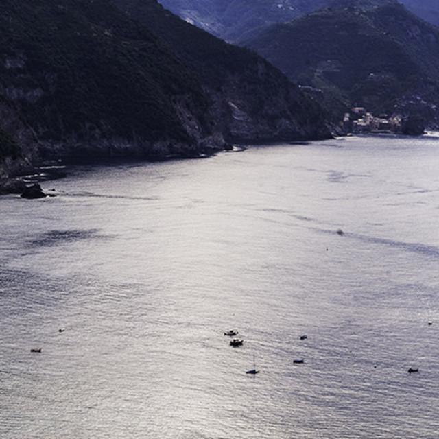"""overlooking Monterosso"" stock image"