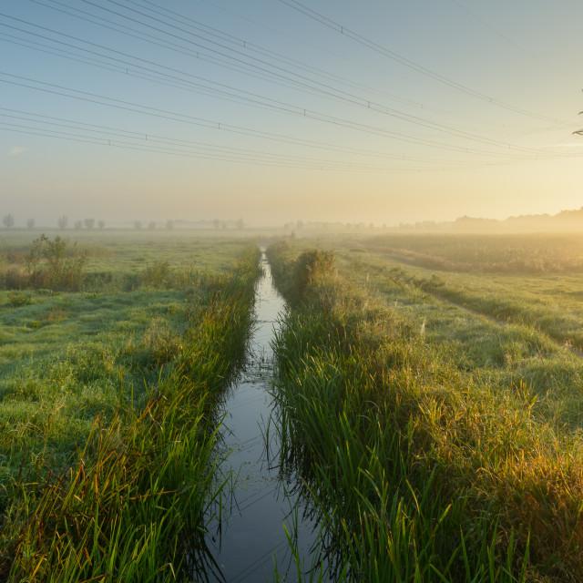 """Misty Meadows"" stock image"