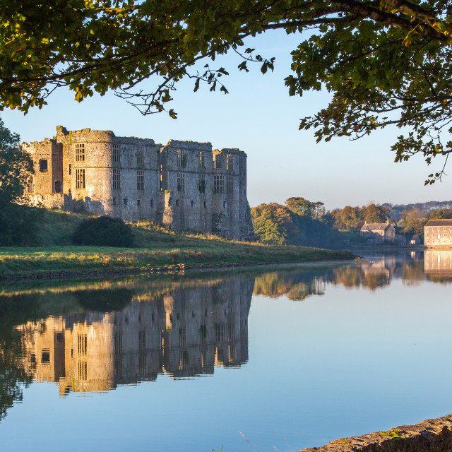 """Carew Castle, Pembrokeshire."" stock image"