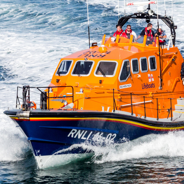 """Tenby Lifeboat."" stock image"