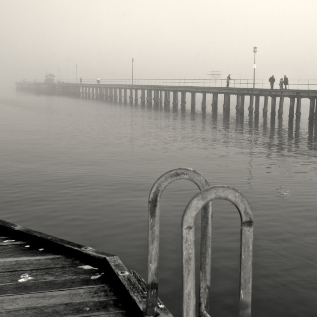 """""""Mist over the sea"""" stock image"""