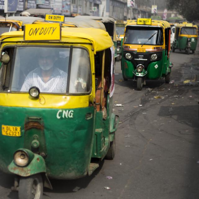 """Delhi Tuk-Tuk"" stock image"