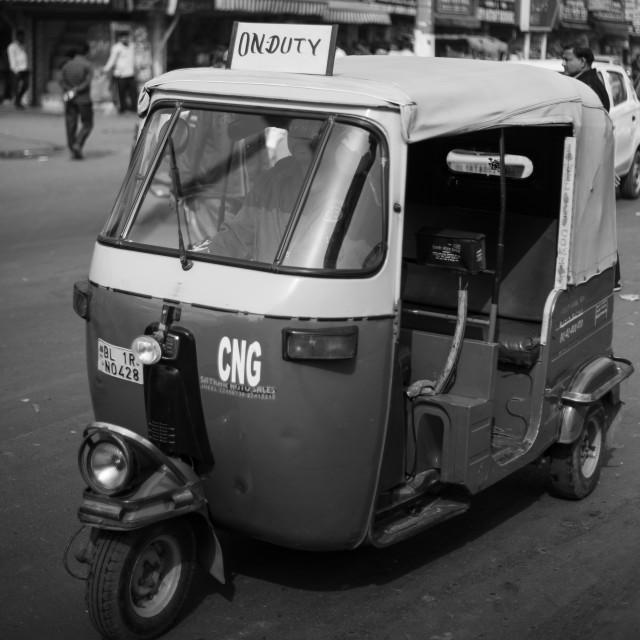 """""""Tuk-Tuk Taxi, Delhi"""" stock image"""