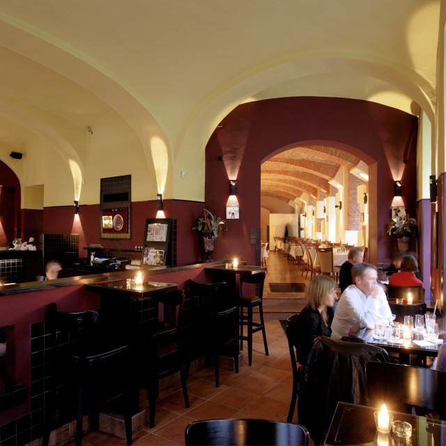"""The Upscale Paparazzi Cocktail Bar and Restaurant, Bratislava, Slovakia"" stock image"